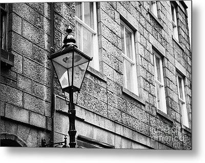 Old Sugg Gas Street Lights Converted To Run On Electric Lighting Aberdeen Scotland Uk Metal Print by Joe Fox