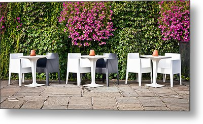 Outdoor Cafe Metal Print by Tom Gowanlock