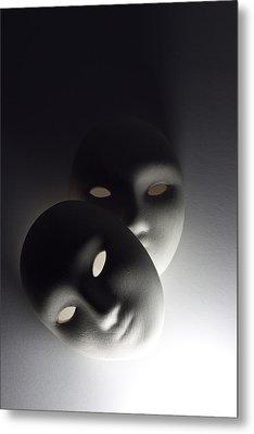 Plaster Masks In Studio Metal Print by Kantapong Phatichowwat