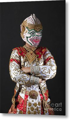 Portrait Of Hanuman Warrior Metal Print by Anek Suwannaphoom