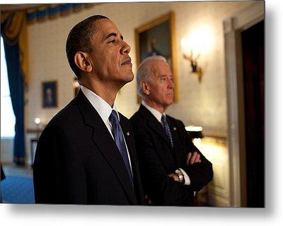President Obama And Vp Biden Metal Print