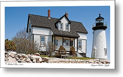 Prospect Harbor Light Metal Print