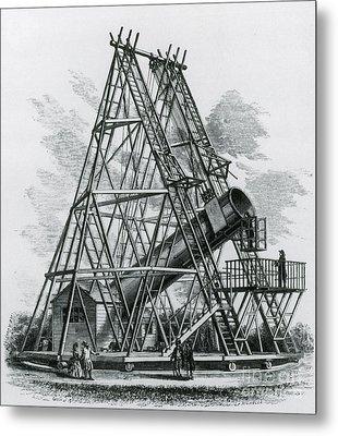Reflecting Telescope, 1789 Metal Print by Science Source