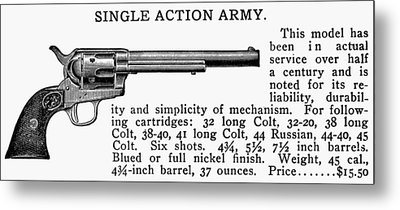 Revolver, 19th Century Metal Print by Granger