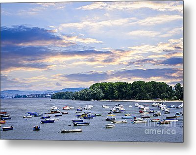 River Boats On Danube Metal Print