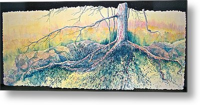 Metal Print featuring the painting Rooted In Time by Carolyn Rosenberger
