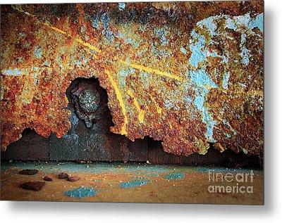 Rust Background Metal Print by Carlos Caetano