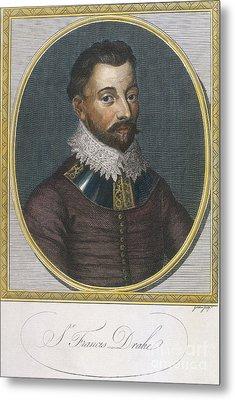 Sir Francis Drake, English Explorer Metal Print by Photo Researchers