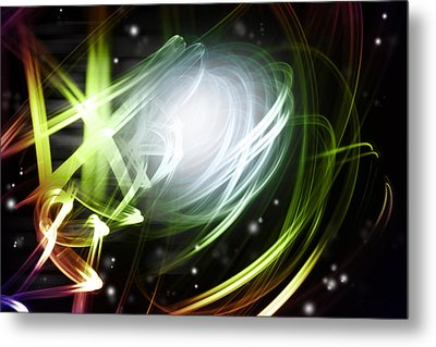 Space Background Metal Print by Les Cunliffe