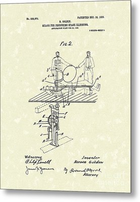 Stage Illusions 1906 Patent Art Metal Print by Prior Art Design