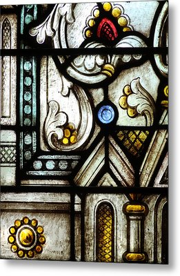 Stained Glass Window Metal Print by Rudy Umans