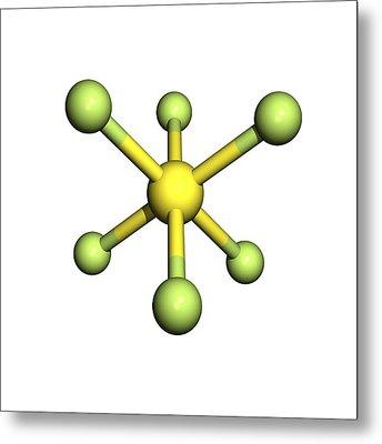 Sulphur Hexafluoride Molecule Metal Print by Friedrich Saurer