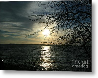 Sunset Chesapeake Bay Metal Print by Valia Bradshaw