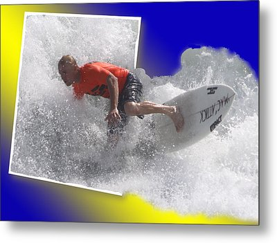 Surfer  Metal Print by Jeanne Andrews
