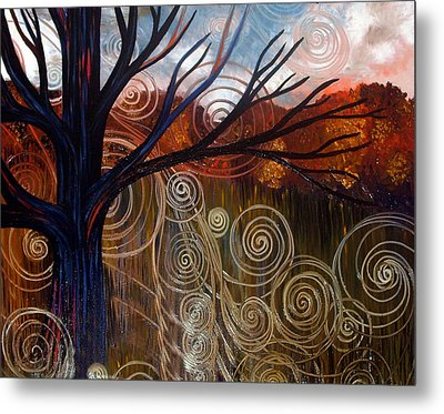 Metal Print featuring the painting Sweet Release-distorted by Monica Furlow
