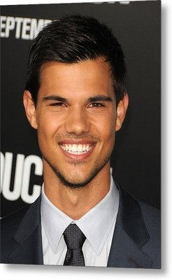 Taylor Lautner At Arrivals Metal Print by Everett