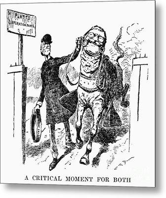 Teddy Roosevelt Cartoon Metal Print by Granger