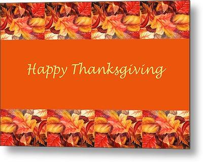 Thanksgiving Card Metal Print by Irina Sztukowski