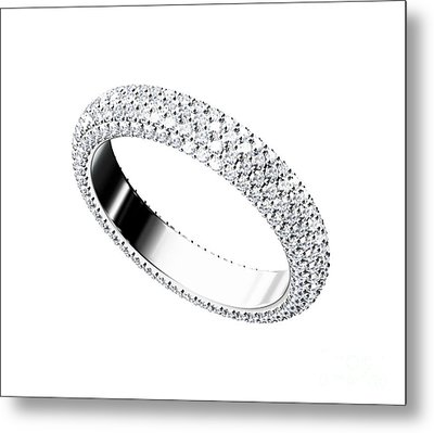 The Beauty Wedding Ring Metal Print by Rattanapon Muanpimthong