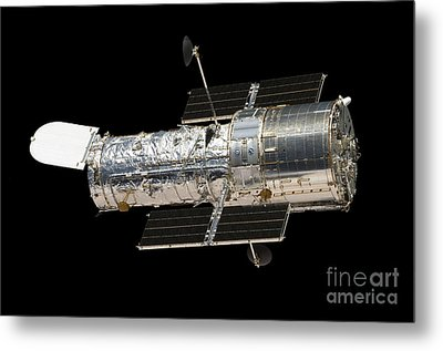 The Hubble Space Telescope Metal Print by Stocktrek Images