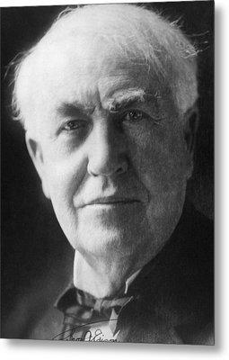 Thomas Alva Edison 1847-1931 Metal Print by Everett