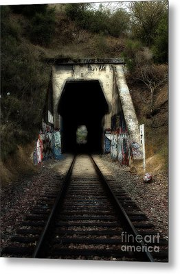 Train Tunnel At The Muir Trestle In Martinez California . 7d10220 Metal Print by Wingsdomain Art and Photography