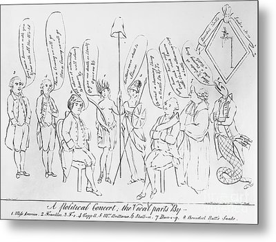 `treaty Of Paris, 1783 Metal Print by Granger