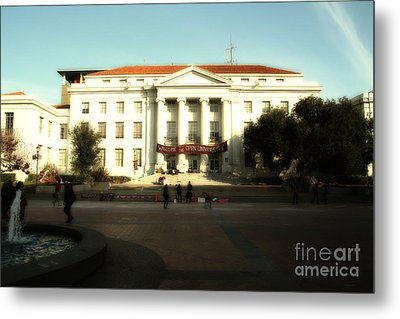 Uc Berkeley . Sproul Hall . Sproul Plaza . Occupy Uc Berkeley . 7d9994 Metal Print by Wingsdomain Art and Photography