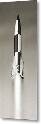 V-2 Prototype Rocket Launch, 1942 Metal Print