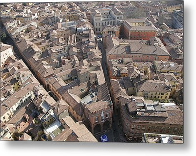 View Of Bologna From The Torre Degli Metal Print by Gina Martin