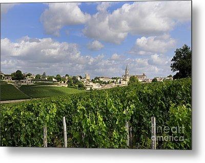 Village And Vineyard Of Saint-emilion. Gironde. France Metal Print by Bernard Jaubert