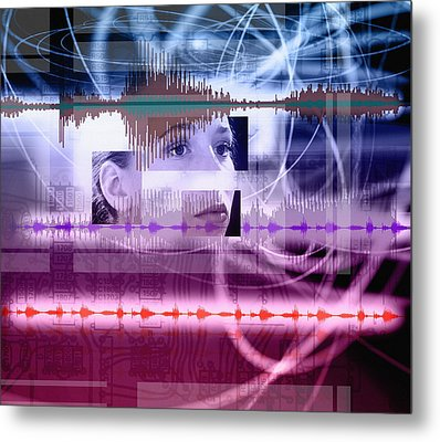 Voice Recognition Metal Print