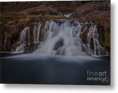Waterfall Metal Print by Jorgen Norgaard