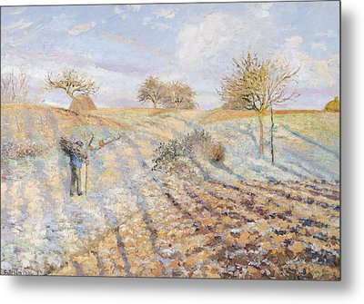 White Frost Metal Print by Camille Pissarro