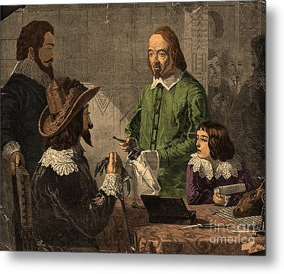 William Harvey, English Physician Metal Print by Photo Researchers