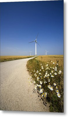 Wind Turbine, Humberside, England Metal Print by John Short