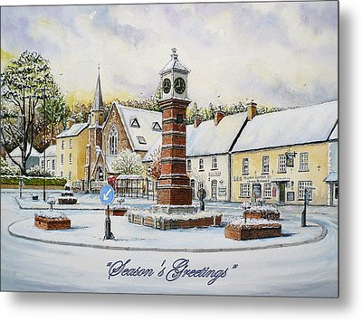 Winter In Twyn Square Metal Print by Andrew Read