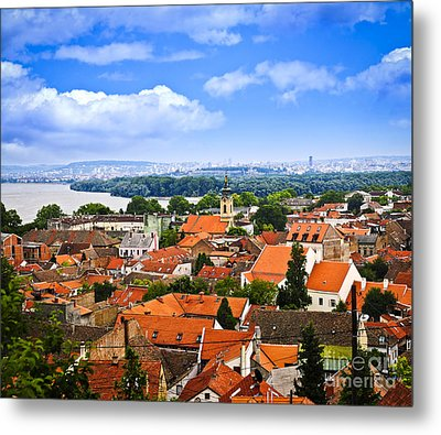 Zemun Rooftops In Belgrade Metal Print