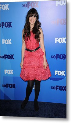 Zooey Deschanel At Arrivals For Fox Metal Print by Everett