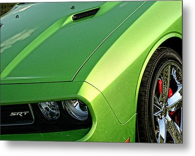 2011 Dodge Challenger Srt8 - Green With Envy Metal Print by Gordon Dean II