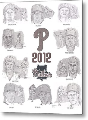 2012 Phightin' Phils Metal Print by Chris  DelVecchio