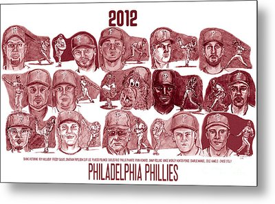 2012 Philadelphia Phillies Metal Print by Chris  DelVecchio
