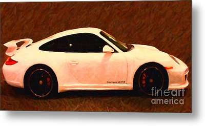 2012 Porsche 911 Carrera Gts Metal Print by Wingsdomain Art and Photography