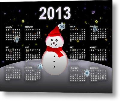 2013 Calendar Metal Print by Martin Marinov