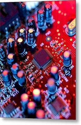 Circuit Board Metal Print by Tek Image