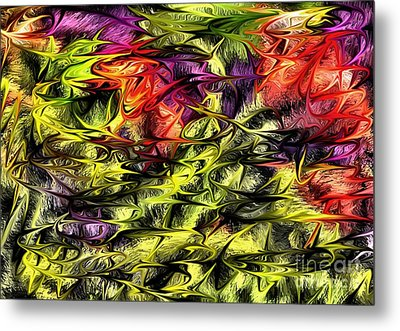 Metal Print featuring the digital art 2312 by Leo Symon