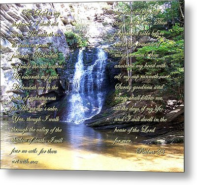 23rd Psalm Metal Print by Chad and Stacey Hall