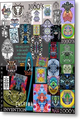 25th Anniversary Collector's Poster By Upside Down Artist And Inventor L R Emerson II Metal Print