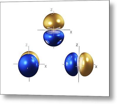 2p Electron Orbitals Metal Print by Dr Mark J. Winter