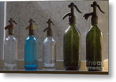 Bottle Of Water Metal Print by Odon Czintos